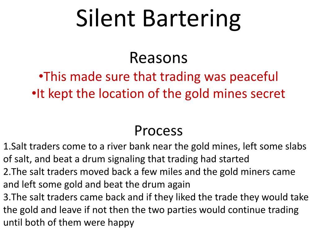 Silent Bartering