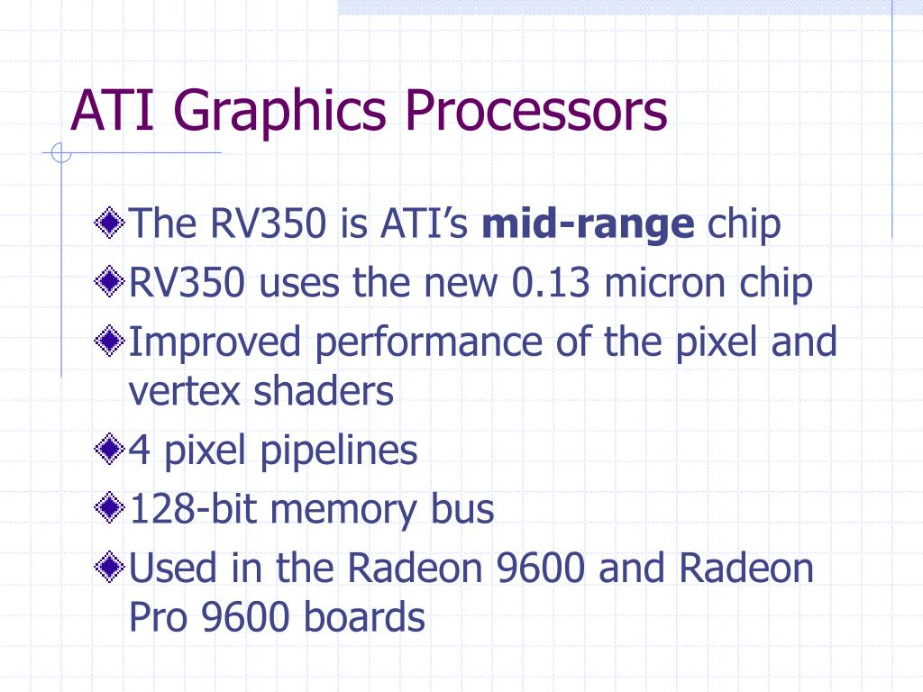 ATI Graphics Processors