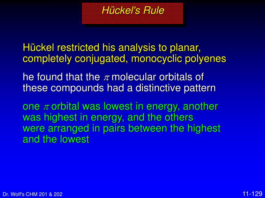 Hückel's Rule