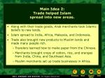 main idea 2 trade helped islam spread into new areas