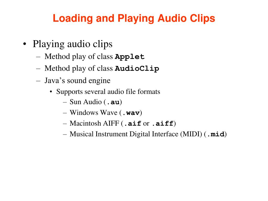 Loading and Playing Audio Clips
