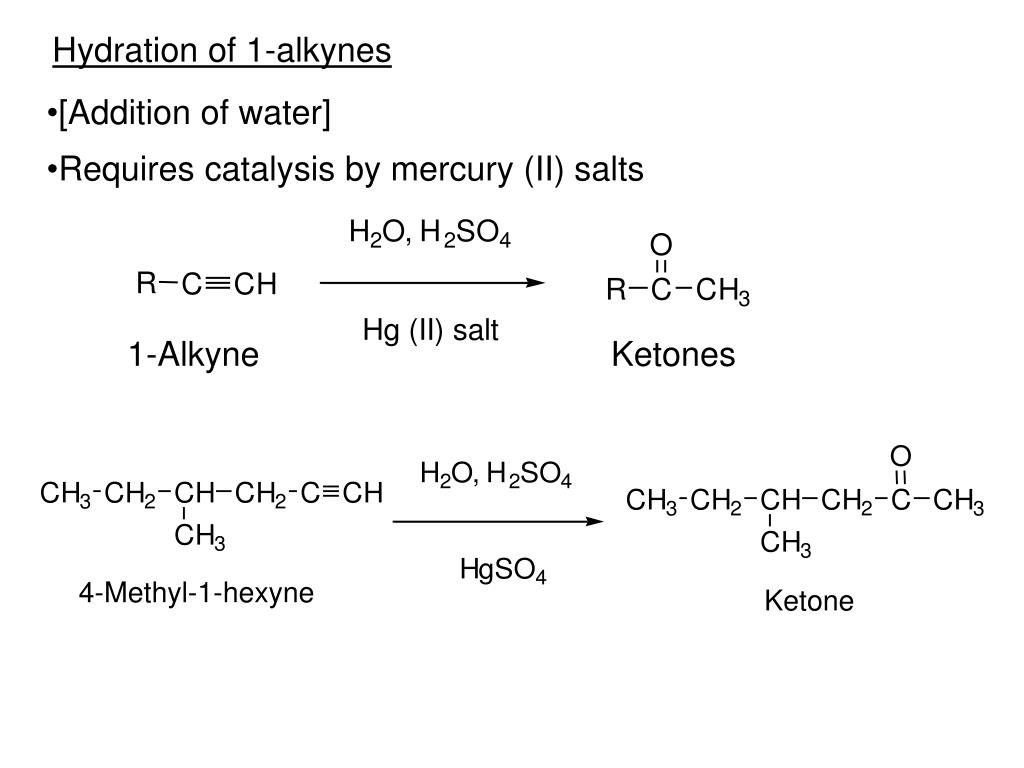 Hydration of 1-alkynes