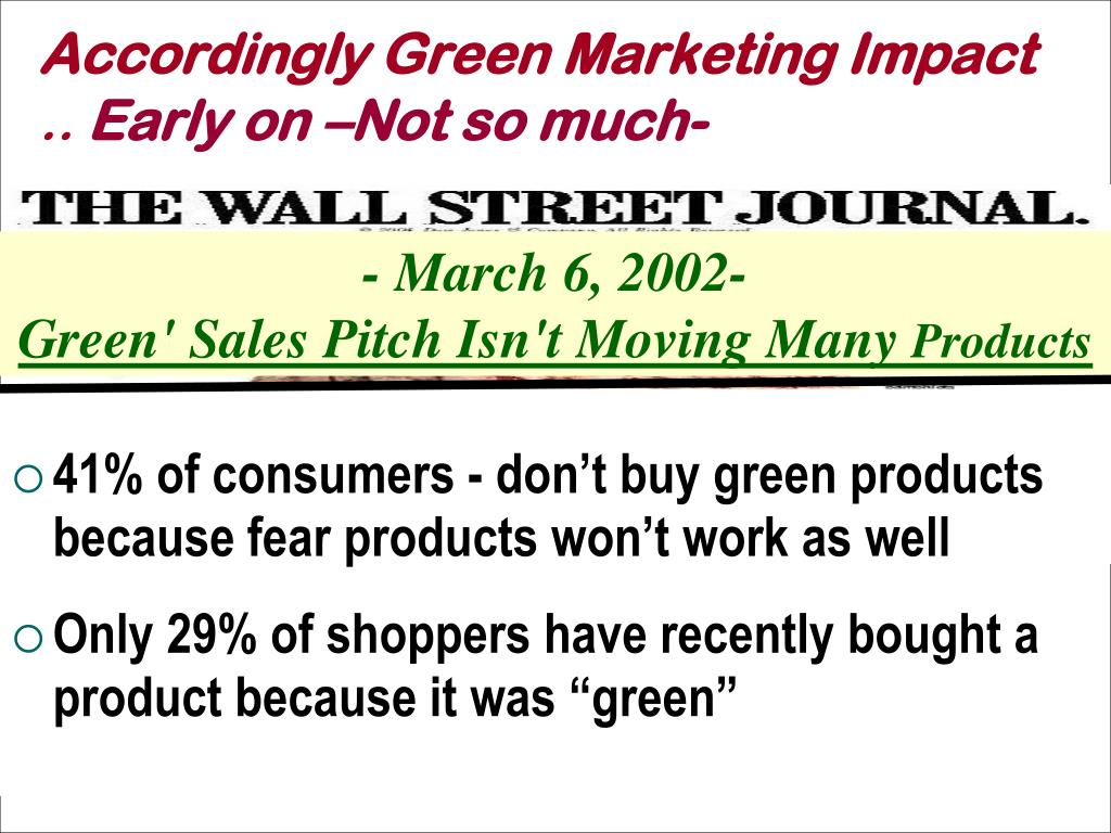 Accordingly Green Marketing Impact