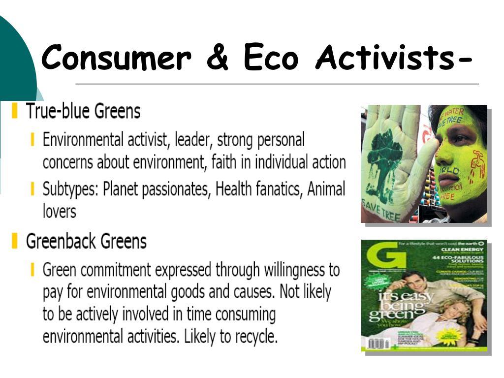 Consumer & Eco Activists-