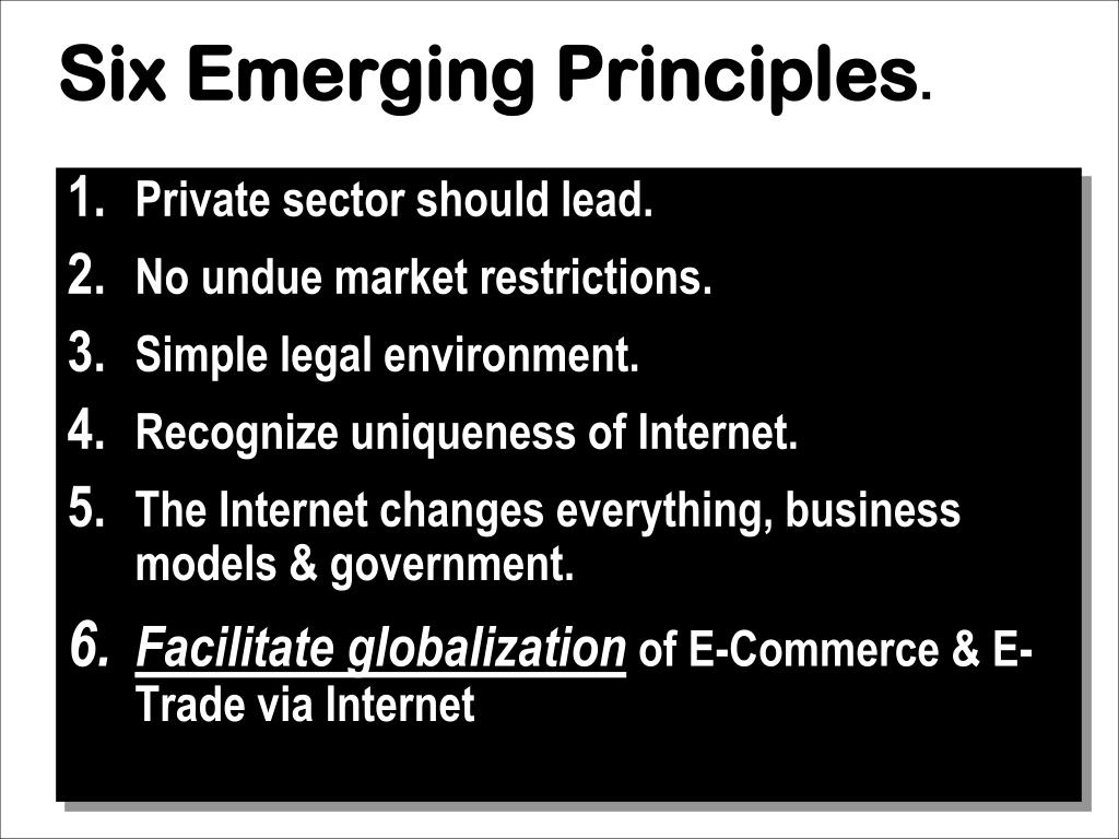 Six Emerging Principles