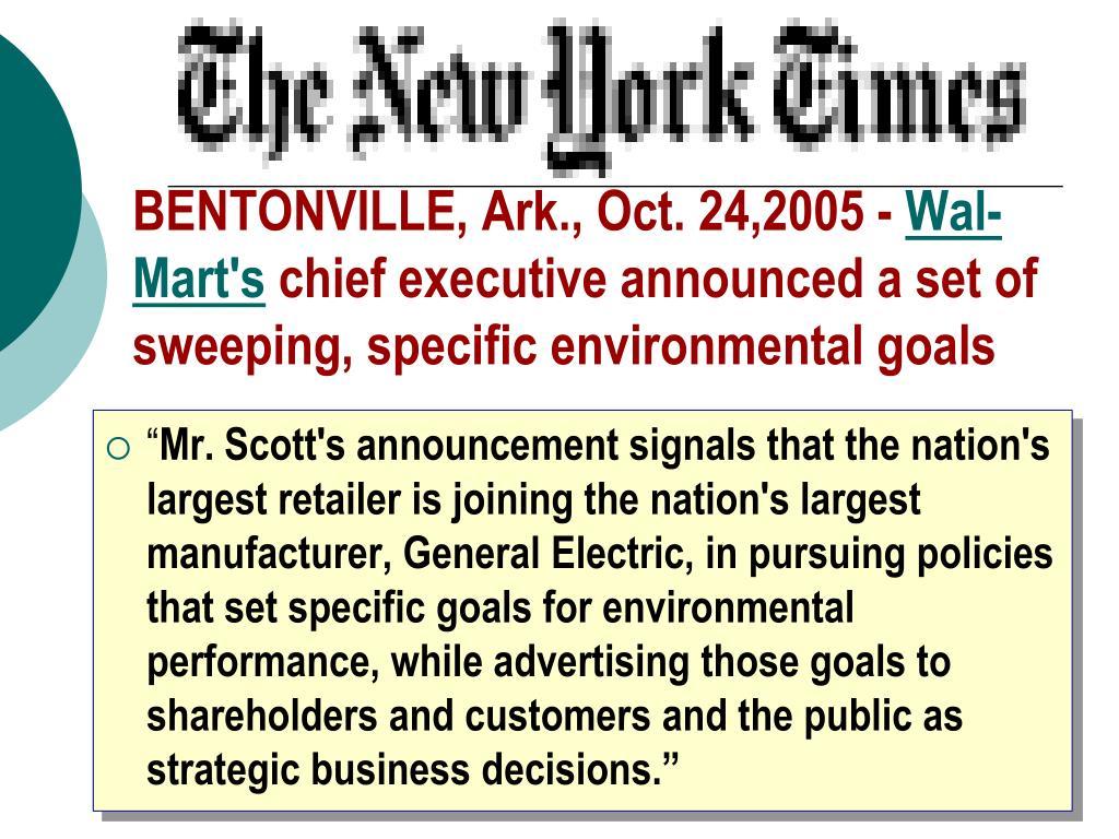 BENTONVILLE, Ark., Oct. 24,2005 -