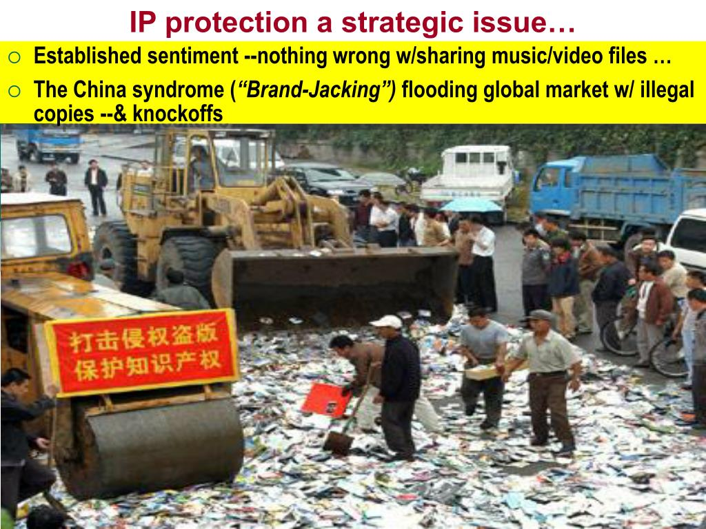 IP protection a strategic issue…