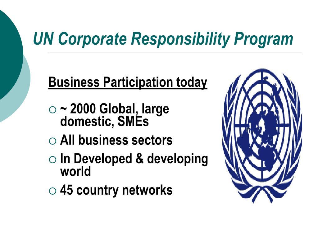 UN Corporate Responsibility Program