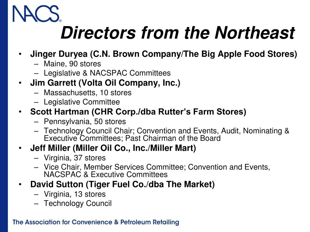 Directors from the Northeast