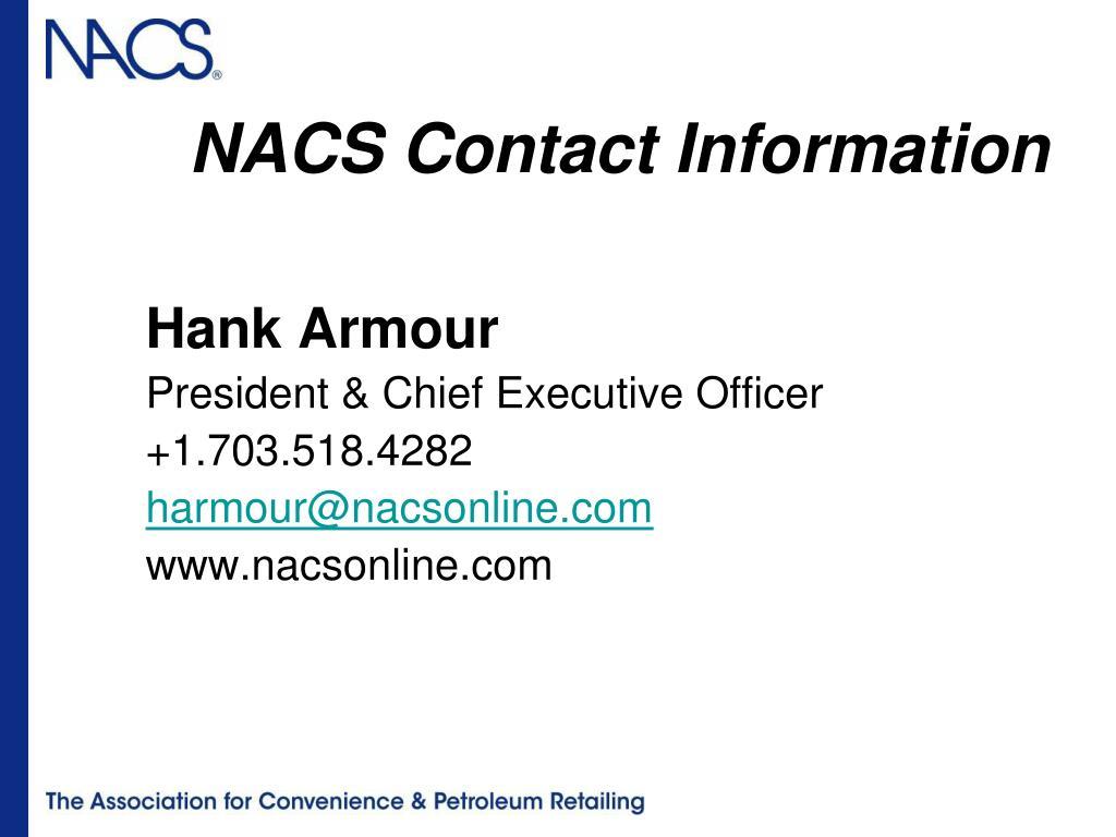 NACS Contact Information