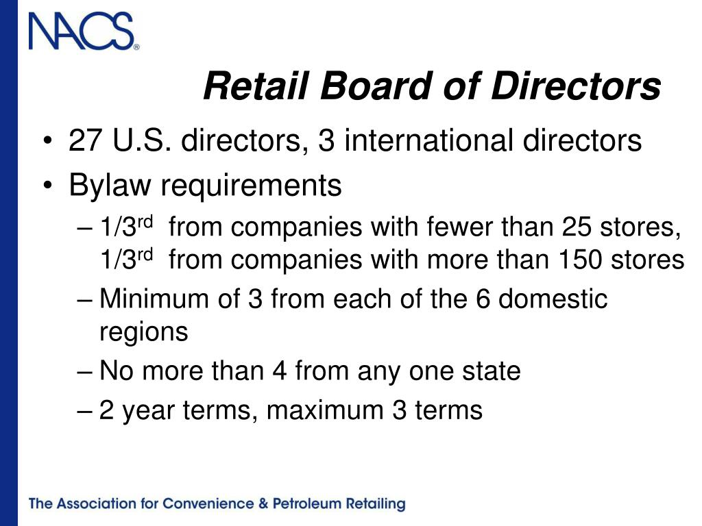 Retail Board of Directors