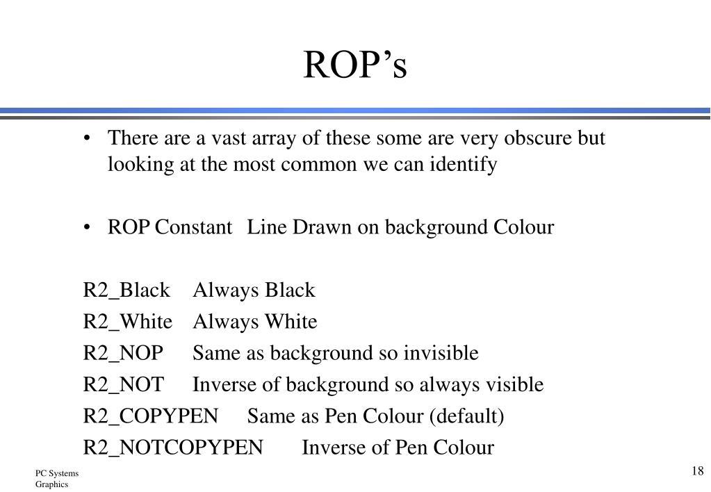 ROP's