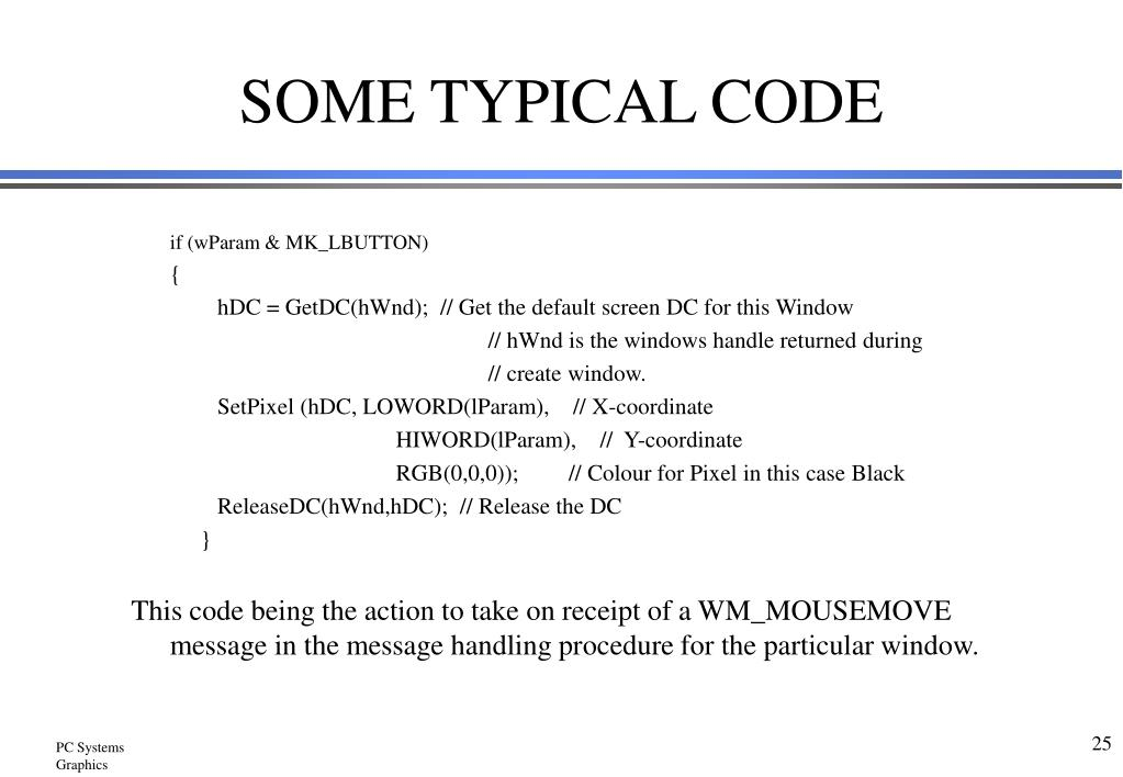 SOME TYPICAL CODE