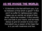 as we invade the world31