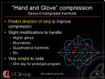 hand and glove compression genus 0 triangulated manifolds40