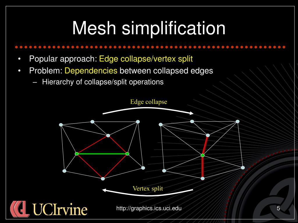 Mesh simplification