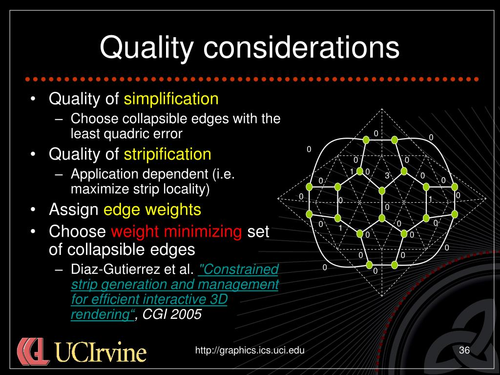 Quality considerations