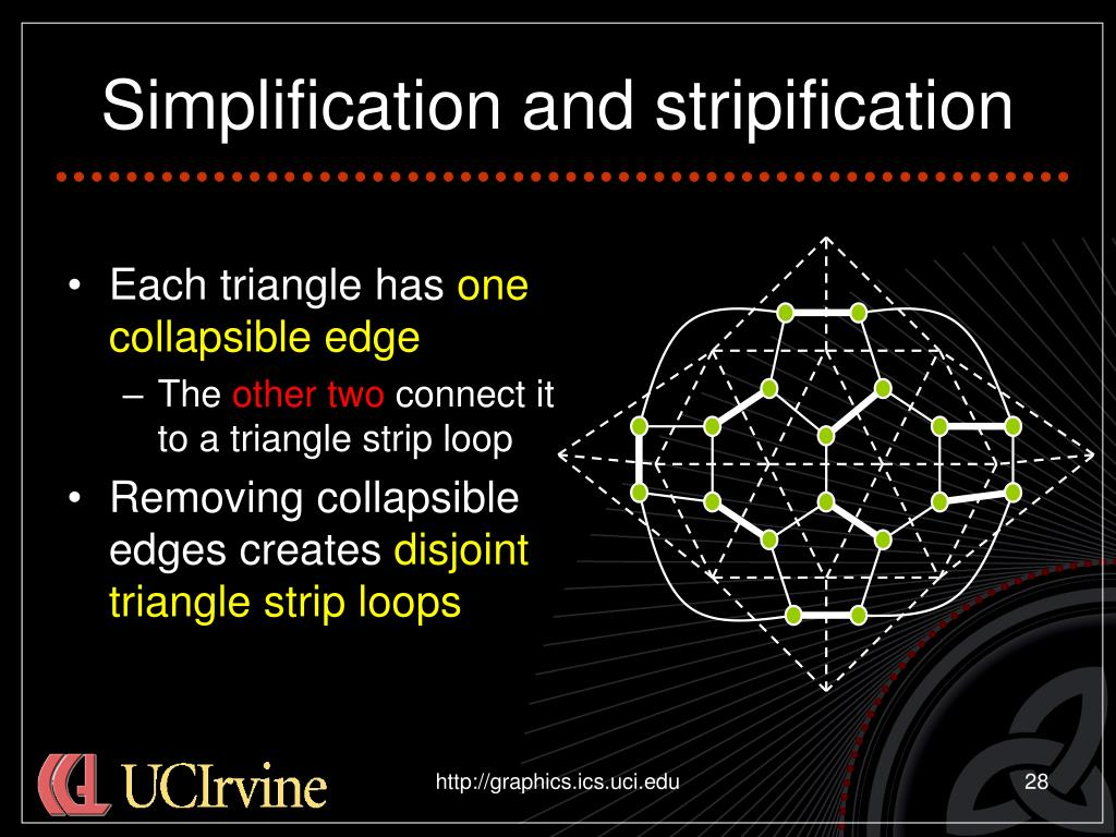 Simplification and stripification