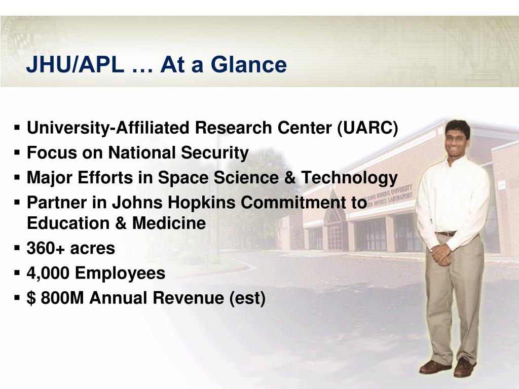 JHU/APL … At a Glance