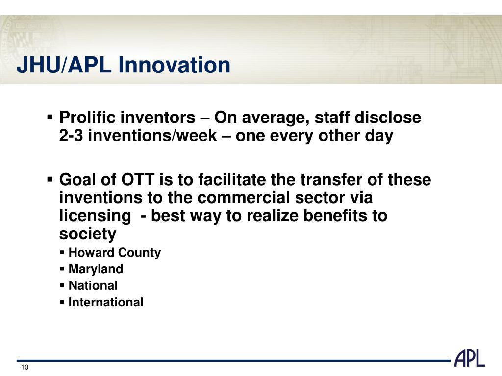 JHU/APL Innovation
