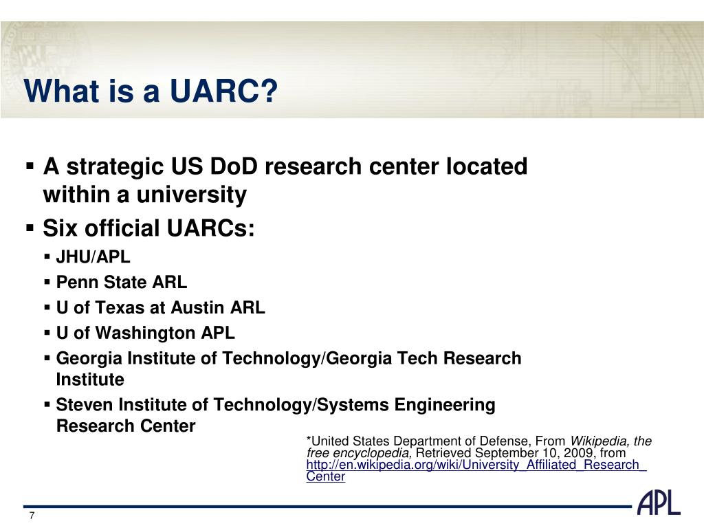 A strategic US DoD research center located within a university