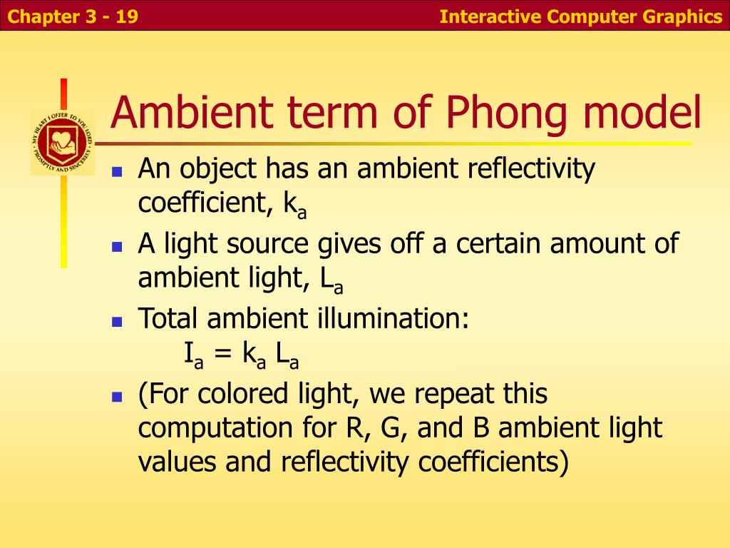 Ambient term of Phong model