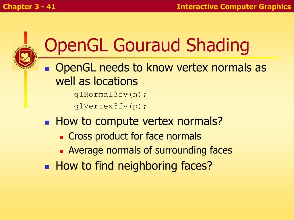 OpenGL Gouraud Shading