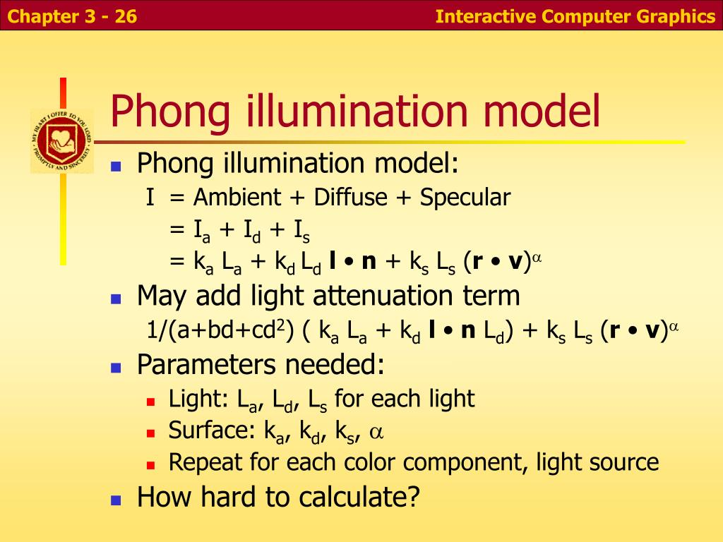 Phong illumination model