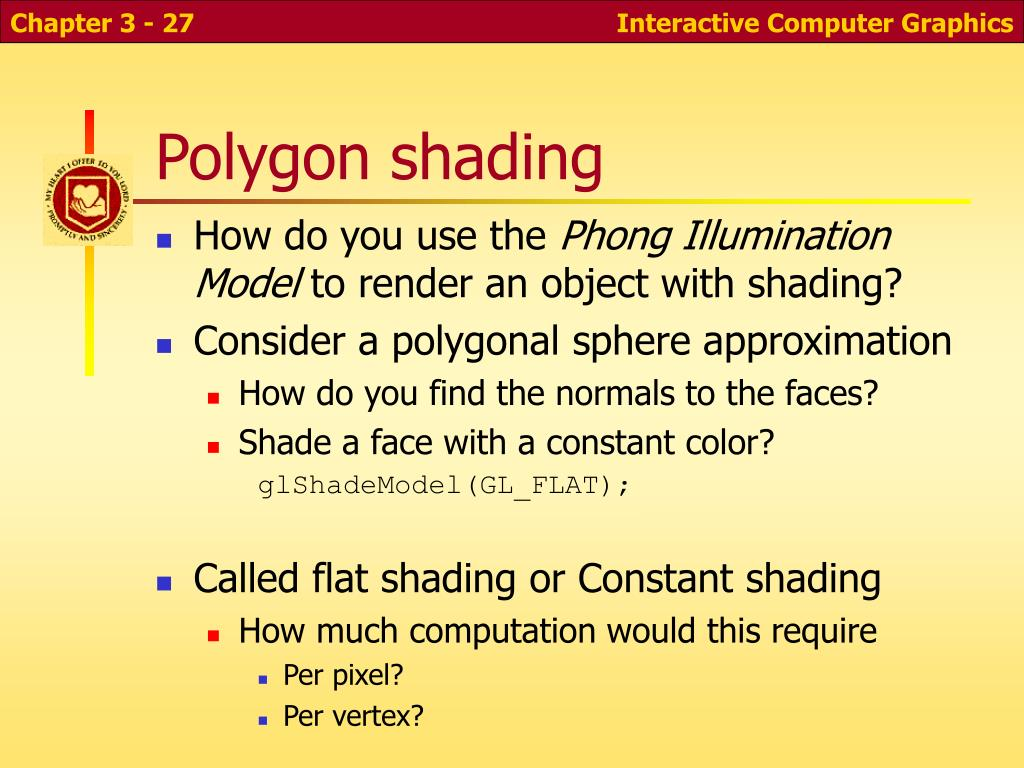 Polygon shading