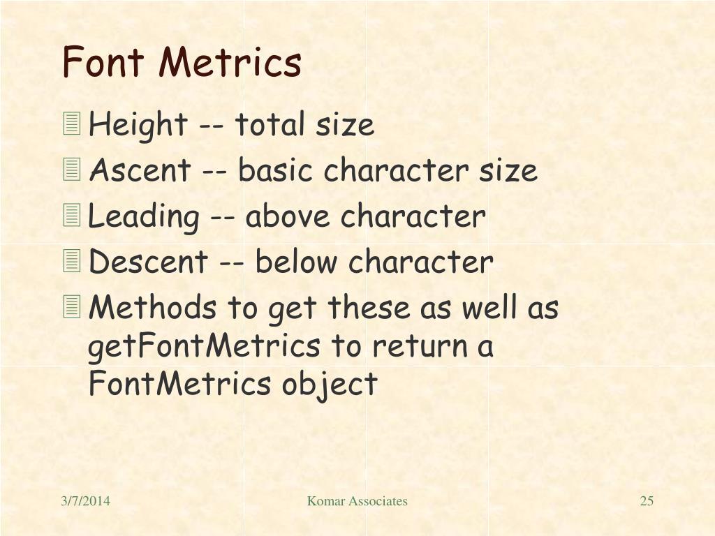 Font Metrics