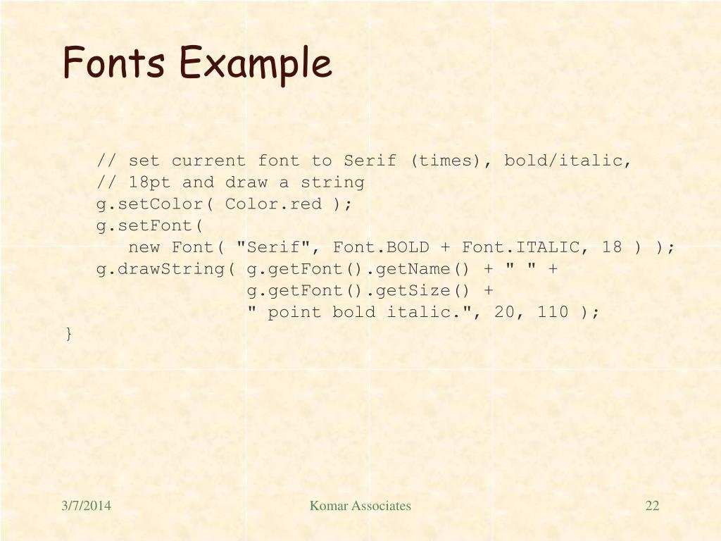Fonts Example