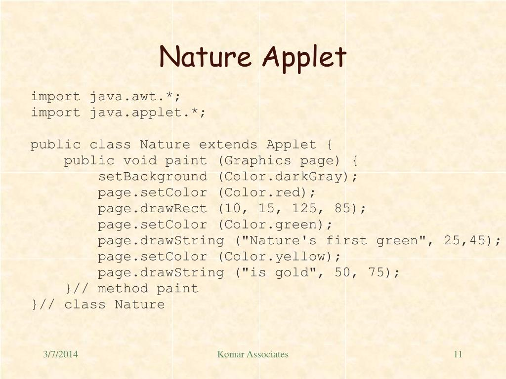 Nature Applet