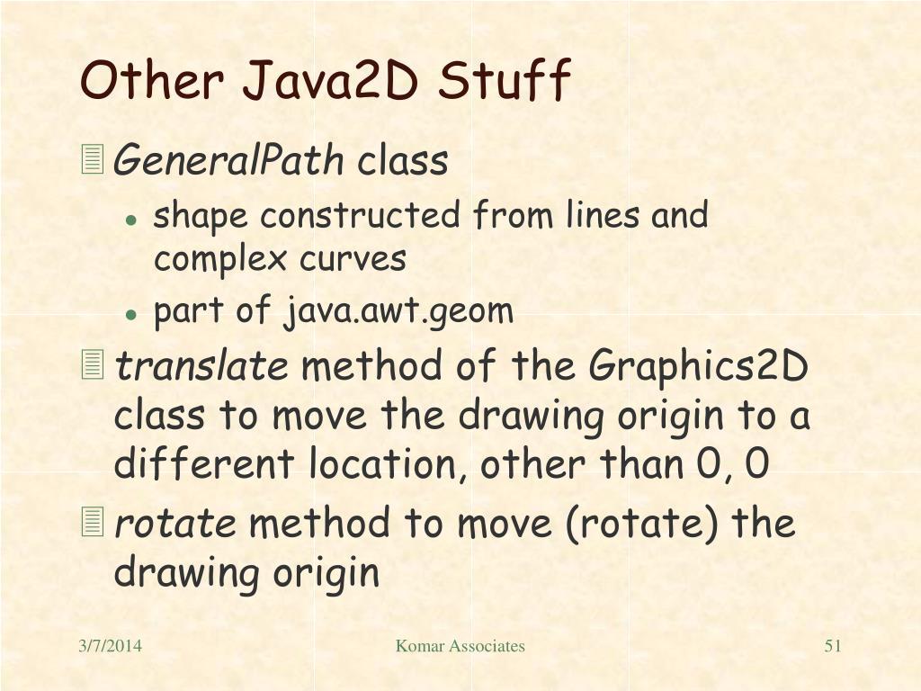 Other Java2D Stuff
