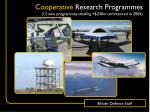 cooperative research programmes 12 new programmes totaling 230m commenced in 2004