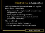 industry s role in cooperation