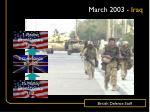 march 2003 iraq