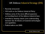 uk defence industrial strategy dis