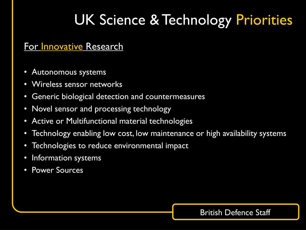 UK Science & Technology