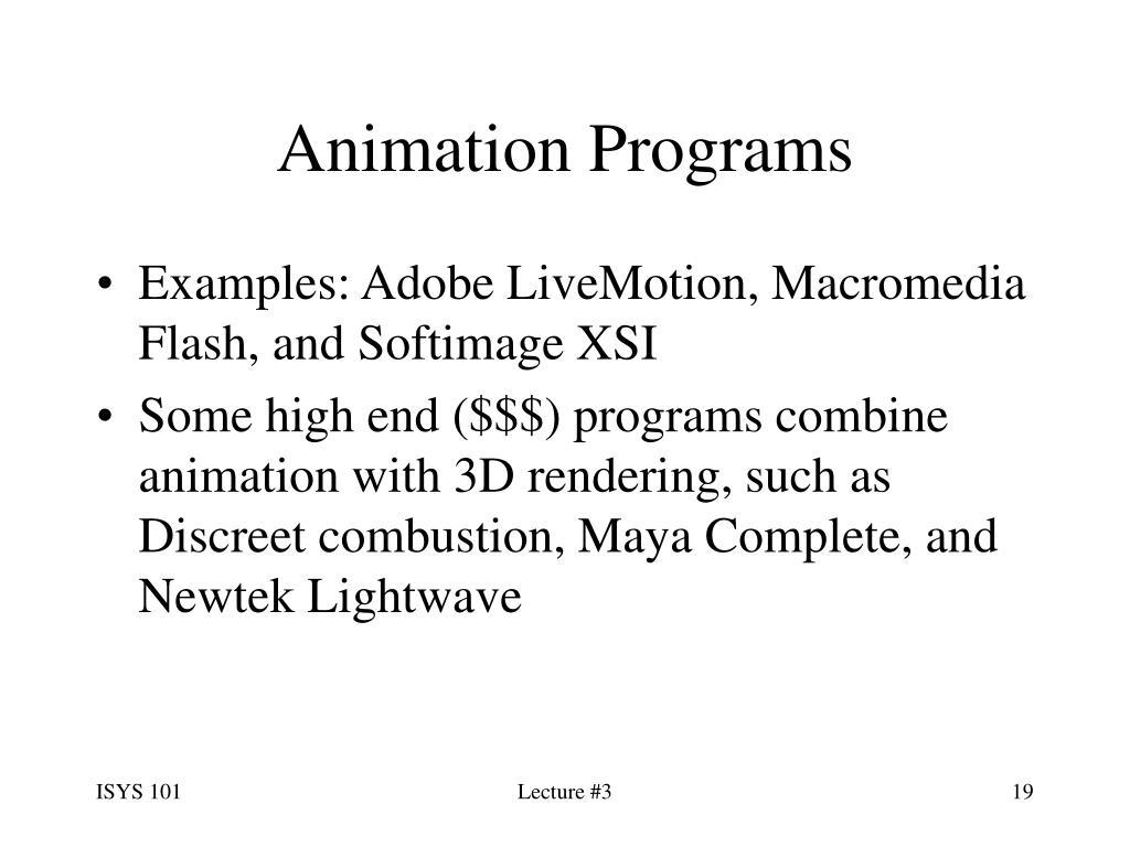 Animation Programs