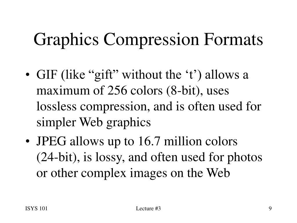 Graphics Compression Formats