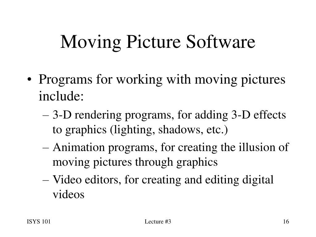 Moving Picture Software