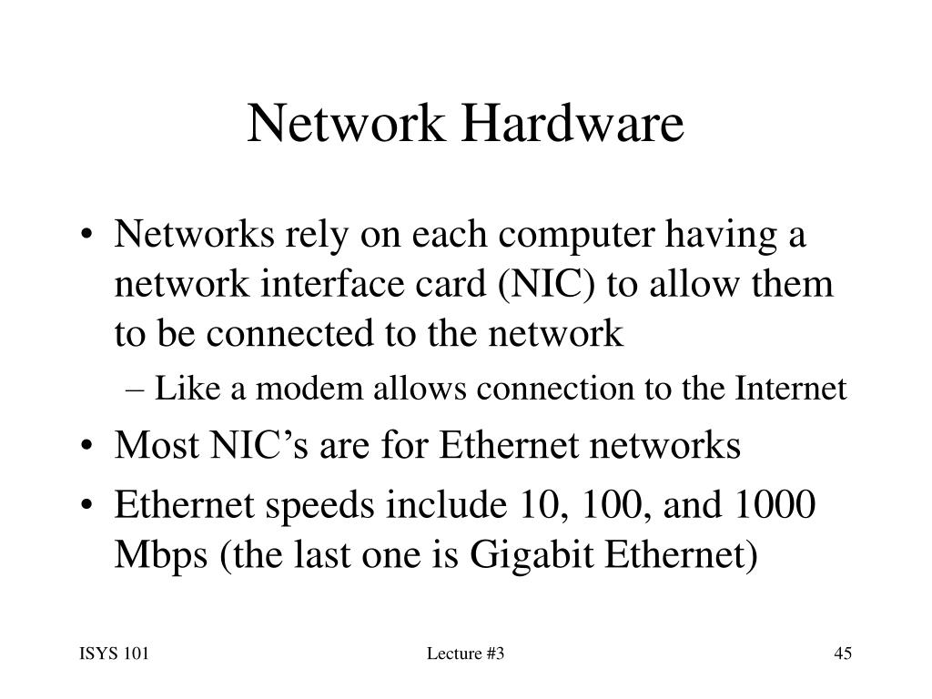 Network Hardware