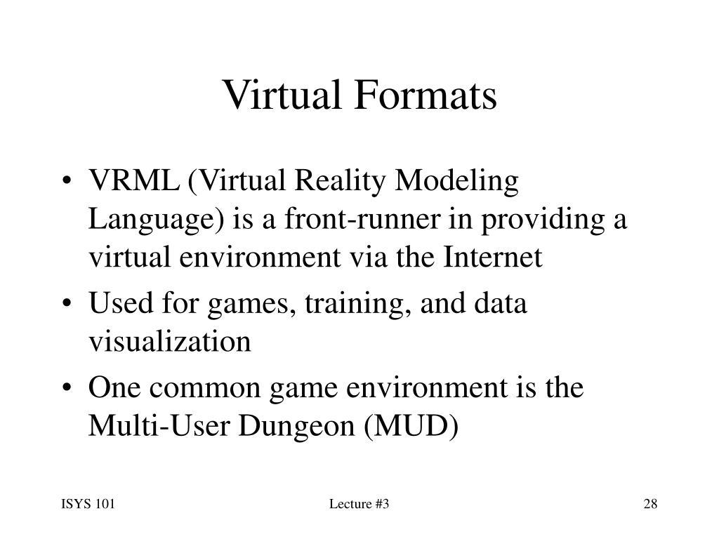Virtual Formats