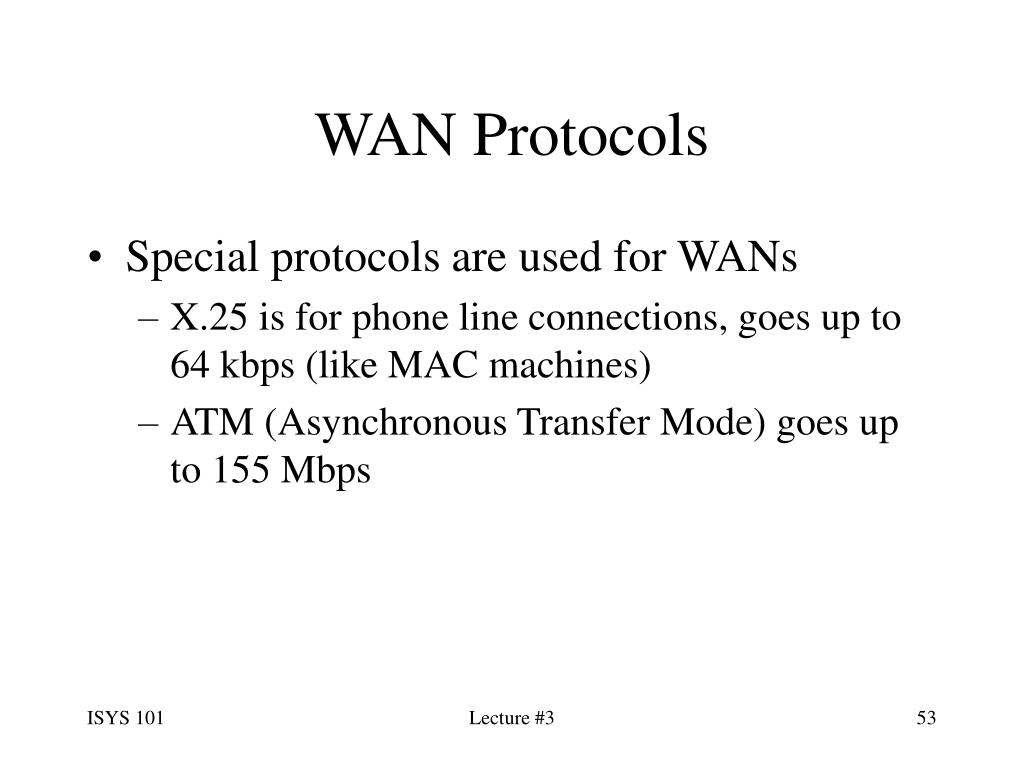 WAN Protocols
