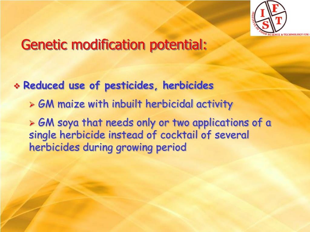 Reduced use of pesticides, herbicides