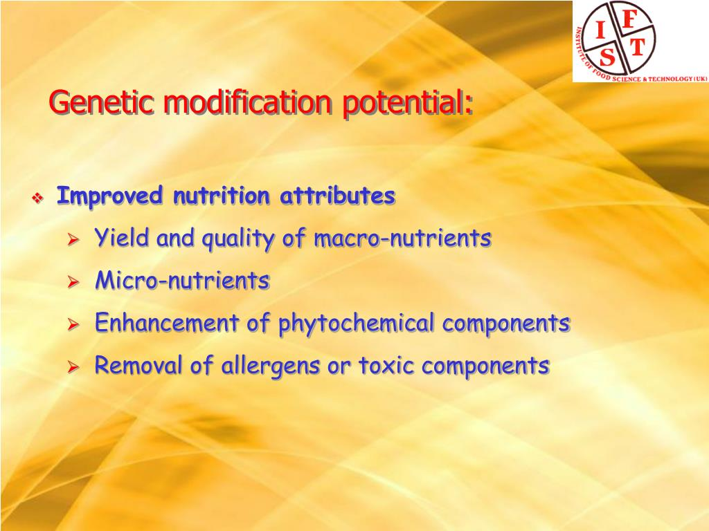 Improved nutrition attributes