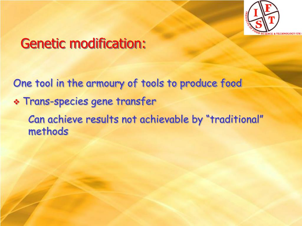 One tool in the armoury of tools to produce food
