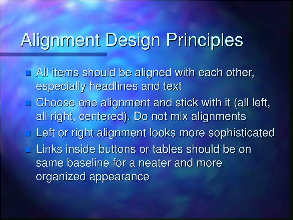 Alignment Design Principles