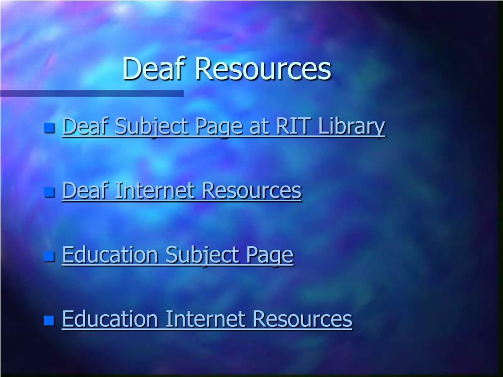 Deaf Resources