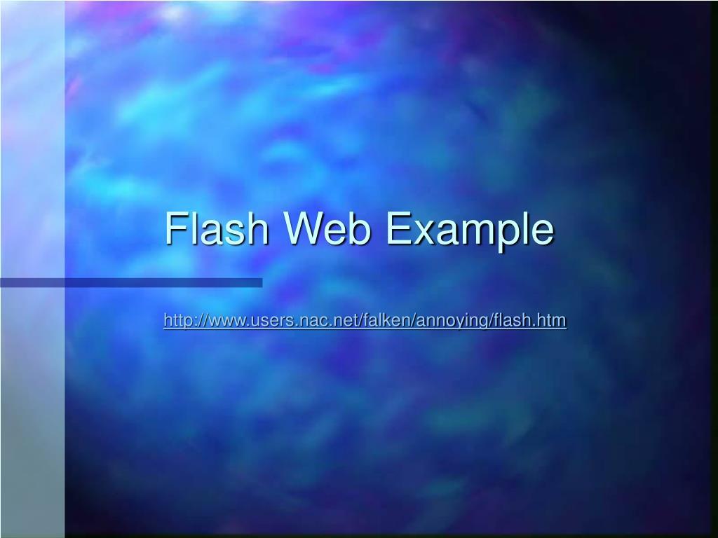 Flash Web Example